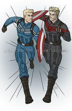 Commission - Captain America Vs Captain Hydra by DeanGrayson on DeviantArt