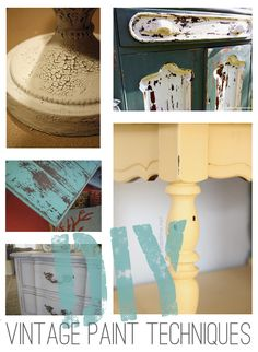 5 amazing vintage painting techniques - perfect for shabby chic furniture makeovers!