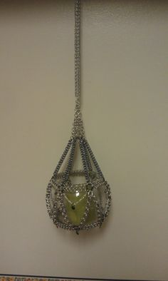 Hanging Chainmaille Candle Holder by StarChainmaille on Etsy, $30.00