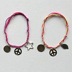 Make your own French-style knotted friendship charm bracelets in this step-by-step tutorial.