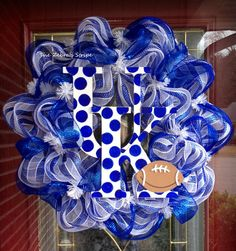 UK Kentucky Wildcats Football Blue and White by TheZebrasStripe