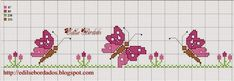 Crafts: Butterfly designs for c . - Crafts: Butterfly cross stitch patterns with embroidery - Butterfly Stitches, Butterfly Cross Stitch, Cross Stitch Borders, Cross Stitch Designs, Cross Stitching, Cross Stitch Embroidery, Butterfly Crafts, Cross Stitch Bookmarks, Cross Stitch Alphabet