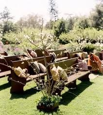 <3 <3 ADD diy www.customweddingprintables.com #customweddingprintables... outside church wedding pews -