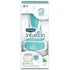 Schick Intuition Sensitive Care Razor for Women with 2 Moisturizing Razor Blade Refills with Natural Aloe * Read more at the image link. (This is an affiliate link) Best Womens Razor, Amazon Subscribe And Save, Disposable Razor, Shave Gel, Hand Care, Bar Soap, Body Wash, Aloe, Chic