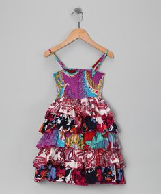 Take a look at the Yo Baby Purple & Red Smocked Dress - Toddler & Girls on #zulily today!