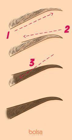 3 passos para nunca mais errar ao preencher a sobrancelha: aprenda a regra do…