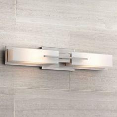 Possini Euro Collection Midtown 23 Satin Bath Light is a quality Bathroom Lighting for your home decor ideas. Bar Light Fixtures, Modern Bathroom Light Fixtures, Contemporary Bathroom Lighting, Contemporary Bathroom Designs, Bathroom Sconces, Wall Fixtures, Bathroom Vanity Lighting, Contemporary Bathrooms, Bathroom Ideas