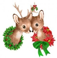 Retro Christmas, Reindeer love                                                                                                                                                                                 More
