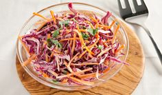 Creamy Red Cabbage Coleslaw - going to bring this to the wedding - colourful and tasty!
