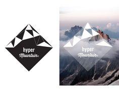 hyper mountain logo design