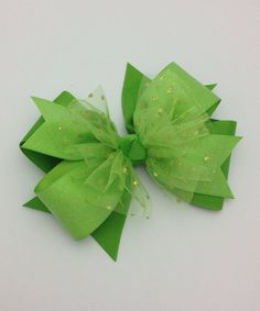 Take a look at this Fairy Bow Mother Lime Green Glitter Dot Bow today! Ribbon Art, Diy Ribbon, Ribbon Crafts, Ribbon Bows, Ribbons, Glitter Balloons, Glitter Toes, Glitter Art, Bowtie Pattern