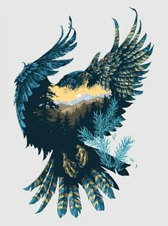 Altay Peregrine ivan belikov further up illustration graphic falcon peregrine siberian character siberian crown bird feathers taiga Art And Illustration, Landscape Illustration, Batwoman, Inspiration Art, Interior Inspiration, Tattoo Inspiration, Fashion Inspiration, Art Design, Double Exposure