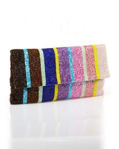 Beaded Clutch by Moyna #beaded_clutch #clutch #striped_clutch
