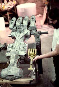 """gameraboy: """" Putting the finishing touches on the Rebel blockade runner Tantive IV for Star Wars. Nave Star Wars, Star Wars Film, Star Wars Art, Star Trek, Maquette Star Wars, Starwars, Star Wars Episode Iv, Star Wars Vehicles, Sci Fi Models"""