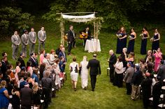 Gorgeous outdoor ceremony on Founders lawn! PC: Dan Aguirre Photography