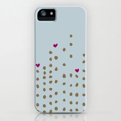 Spots and Hearts iPhone Case