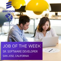 Our team in San Jose, #California is currently seeking a Senior #SoftwareDeveloper to assist in development of our #cloud analytic product. Apply today to join #Ericsson, and see what you can accomplish while working with the 5th largest #software provider in the world! https://jobs.ericsson.com/job/San-Jose-Senior-Software-Developer-CA-95101/237277700/