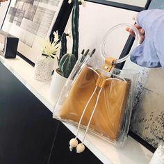 Mustard Transparent Bag Clear Purse Handbag Bucket Bag #outfitoftheday #lookoftheday #fashionblogger #photooftheday #whatiwore #picoftheday #ootd #ootdsubmit #ootdmagazine #onlineshop #shopgirlla #shopmycloset #instashop #instasale #instacloset #clothesforsale #girlgaze #vintageclothes #whowhatwearing #pvc #bucketbag #clearbagtrend #pvcbag #pvcbagtrend #clearbag #clearpurse #handbag #handbagaddict #purseaddict #bagtrendy #bagtrends
