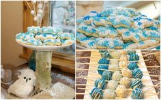 Snowflake cookies for Winter Wonderland party