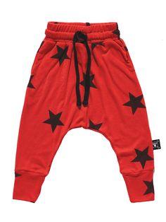 NUNUNU Star Baggy Pants - Flame