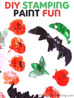 DIY halloween stamping paint fun by @Nicci @ Powerful Mothering #kids #Crafts