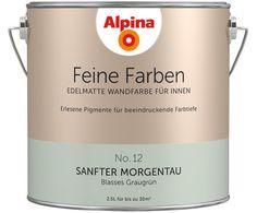 Wandfarbe Sanfter Morgentau, Graugrün