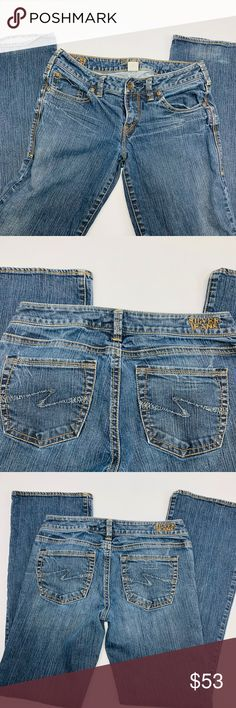 c1bbc065 Silver Jeans Aiko Boot Cut Womens 28x33 Blue Denim You are buying Silver  Jeans Womens 28x33
