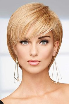 So short, so chic. The human hair Success Story Lace Front Wig by Raquel Welch can be tucked behind the ears and styled like a pixie or a short bob with face framing layers. Looks are endless when you pair human hair with a hand-tied, Lace Front top. Short Bob Wigs, Short Hair Wigs, Short Hair Styles, Wigs For Cancer Patients, Bride Hairstyles, Bob Hairstyles, Cut My Hair, Hair Cuts, Maquiagem