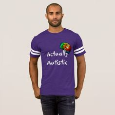 #Actually Autistic Rainbow Brain Football Shirt - #autism #tshirts #autistic #awareness #autismpride