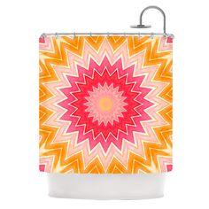 "Iris Lehnhardt ""You are my Sunshine"" Pink Orange Shower Curtain"