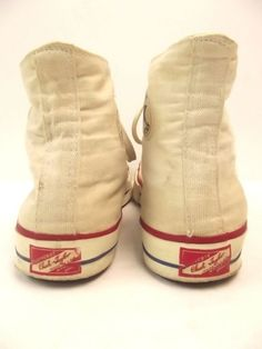 Vtg 50s CONVERSE CHUCK TAYLOR Red Label Canvas USA Sneakers Shoes