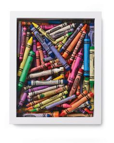 Fun-Filled Boxes  Everyday playthings, such as crayons or Matchbox cars, make for colorful, easy-to-assemble wall art.