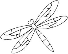 Animal Coloring, Animal Dragonfly Coloring Page Free For Kids: animal dragonfly coloring page free for kids