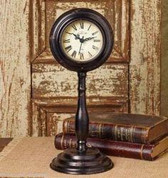 Antique Black Pedestal CLOCK