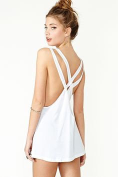 Woven Ways Tank in White - Nasty Gal
