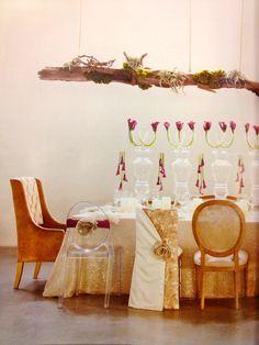 Love the modern flower arrangements
