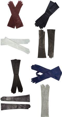 Inspired by Amal: Chic, Opera-Length Gloves for Every Occasion: (from top L-R): Gucci, $503, matchesfashion.com; Agnelle, $155, farfetch.com; Jane Carr, $199, gilt.com; Joseph, $292, farfetch.com; Gareth Pugh, $273, farfetch.com; Giorgio Armani, $275, farfetch.com; Labonia, $165, saksfifthavenue.com; Saint Laurent, $303, bluefly.com #InStyle
