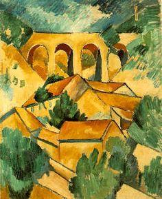 """Georges Braque """"Viaducto en Léstaque"""" 1908 (Cubismo Analítico)"""
