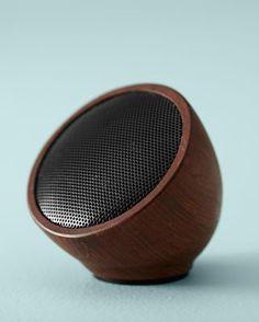 Walnut-Wood Wireless Portable Speaker
