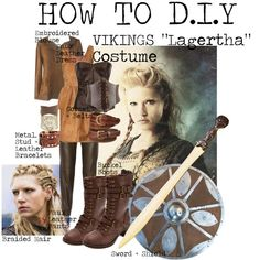 """How to DIY VIKINGS ""Lagertha"" Costume"" by tlexrawr on Polyvore. If you [like