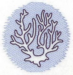 Risultato immagine per Coral Outline Applique Patterns, Machine Embroidery Designs, Embroidery Stitches, Kids Crafts, Sea Crafts, Coral Drawing, Ocean Themes, String Art, Art Lessons