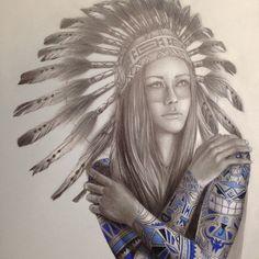 Native Girl Tattoo on Behance