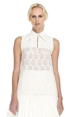 LOVE this top! Peter Som Popeline Stretch Blouse at Moda Operandi