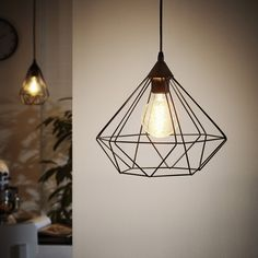 Eglo Tarbes Lights - one for the living room and the longer ones for the kitchen