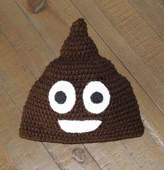 Poop Emoji Crochet Hat Handmade to Order Newborn to Adult
