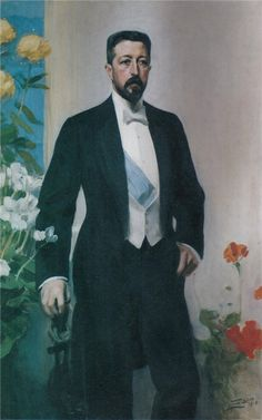 Portrait of Prince Eugen, 1910 by Anders Zorn (Swedish 1860-1920)....Prince Eugen Napoleon Nicolaus of Sweden and Norway, Duke of Närke (1865–1947) was a Swedish painter, art collector and patron of artists, as well as being fourth in line to the thrones of both Sweden and Norway.