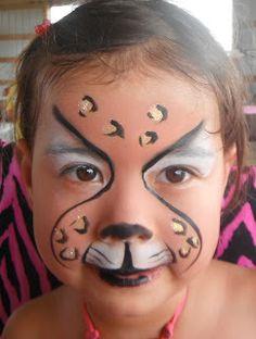 Simple Cheetah Face Painting