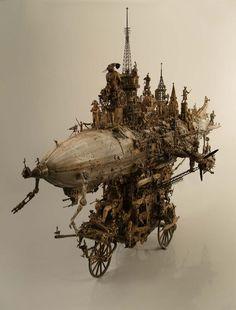 Caravan Assault Apparatus: Kuksi surrealism in the form of a blimp-bike...thing.