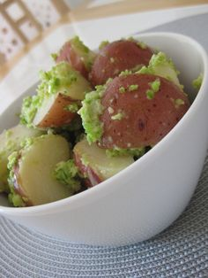 VEGGIE QUEST: Red Potatoes with Garlic Scape and Walnut Pesto
