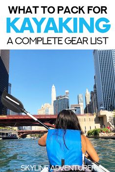 Kayaking is a fun outdoor activity for the spring, summer, and fall, and is a great way to explore cities and parks. We wrote this kayaking packing list (complete gear list) to help ensure you have everything you need for your next kayaking excursion! Fun Outdoor Activities, Outdoor Fun, Outdoor Travel, Adventure Activities, Travel Activities, Kayak Pictures, Kayaking Tips, Kayak Rentals, Kayak Accessories